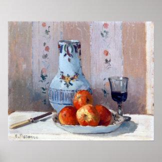 Póster Todavía de Camille Pissarro vida con la jarra de