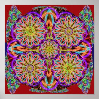 Póster Tolerancia de la PÚRPURA SANTA: Mandala del