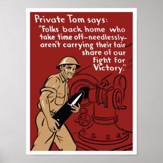 Póster Tom privado -- Segunda Guerra Mundial