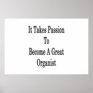 Póster Toma la pasión para sentir bien a un gran