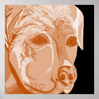Póster Tonos de la sepia de Rottweiler