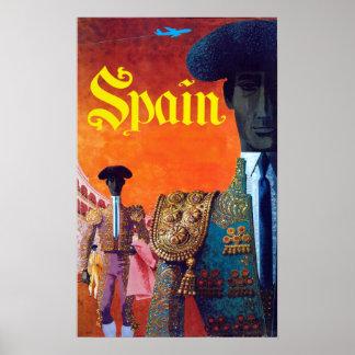 Póster Torero del Torero de España del vintage