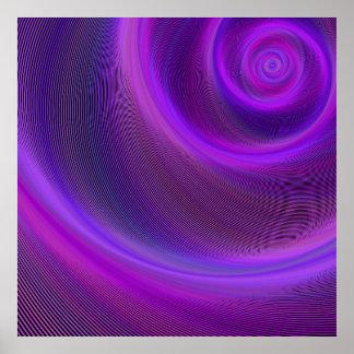Póster Tormenta púrpura de la noche