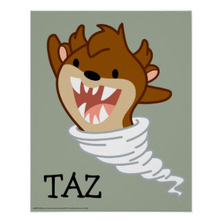 Póster Tornado TAZ™ de Chibi