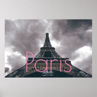 Póster Torre Eiffel en ciudad romántica del amor de París