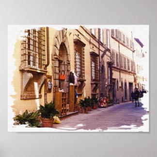 Póster Toscana. Italia. Cortona