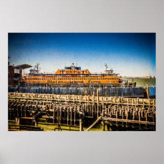 Póster Transbordador NYC de Staten Island