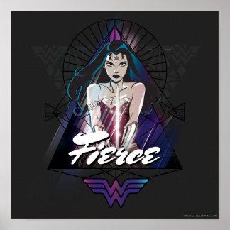 Póster Triángulo tribal de la Mujer Maravilla