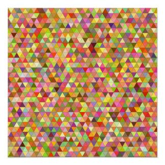 Póster Triángulos felices del verano