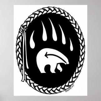 Poster tribal de la decoración de la fauna de la i
