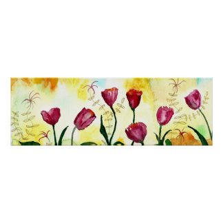 Póster Tulipanes