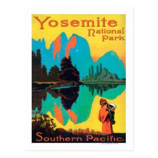 Poster turístico - parque nacional de Yosemite, CA Postal