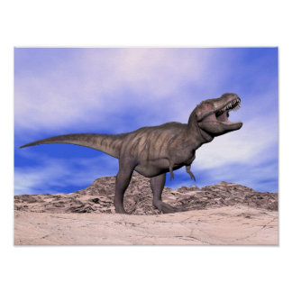 Póster Tyrannosaurus que ruge - 3D rinden