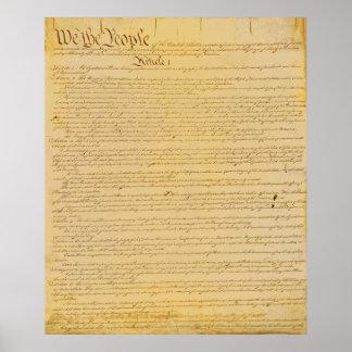 Póster U.S. Poster de la constitución
