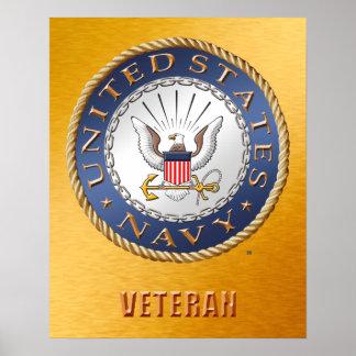 Póster U.S. Poster del veterano de la marina de guerra