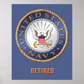 Póster U.S. Poster jubilado marina de guerra