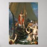 Póster Ulises y las sirenas