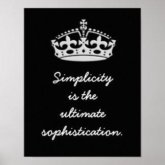 Póster Última sofisticación de la simplicidad --