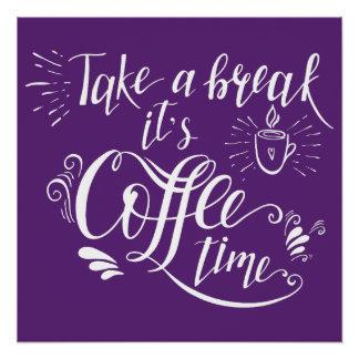 Poster ultravioleta de la muestra del café