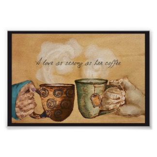 Póster Un amor tan fuerte como su café