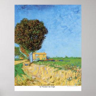 Póster Un carril cerca de Arles de Vincent van Gogh
