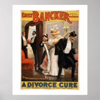 Póster Un cartel del teatro del vintage de la curación de
