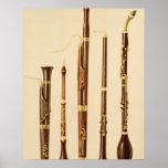 Póster Un dulcian, un oboe, un bassoon, un caccia de DA d