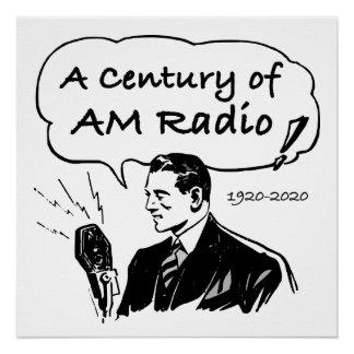 Póster Un siglo de radio de la