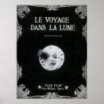 Póster Un viaje a la luna o al la Lune de los dans de Le