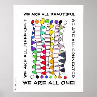 Póster Una de la diversidad celebración única hermosa y