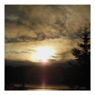 Póster Una nueva salida del sol del día