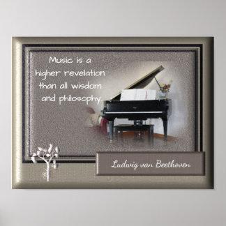 Póster Una revelación más alta de la música _Beethoven la
