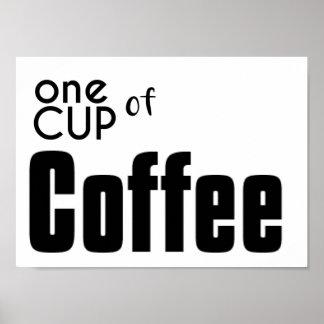 Póster Una taza de café