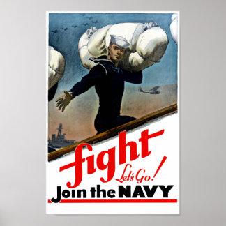 Póster Únase a a la marina de guerra -- WW2