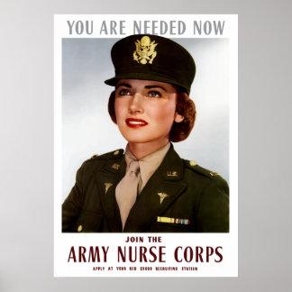 Póster Únase a al cuerpo de enfermera del ejército