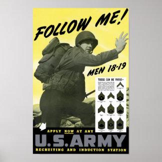 Póster Únase a al ejército -- WWII