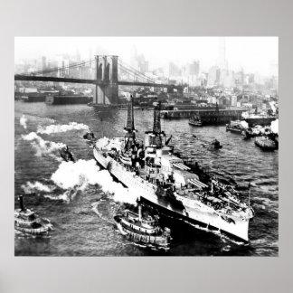 Póster USS Arizona en Nueva York