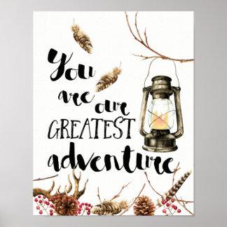 Póster Usted es nuestra aventura más grande