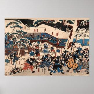 Póster Utagawa Kuniyoshi  47 RONIN