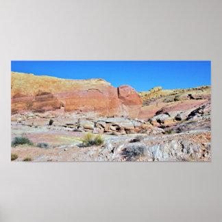 Póster Valle de la foto del paisaje del desierto del