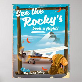 """Póster ¡Vea libro de Rocky el """"un vuelo! """""""