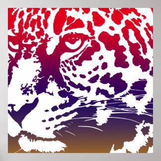 Póster Vector abstracto - leopardo