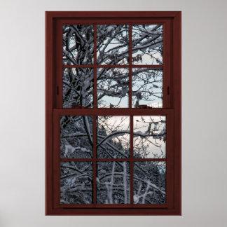 Póster Ventana falsa - ilusión - opinión 1 de maderas del