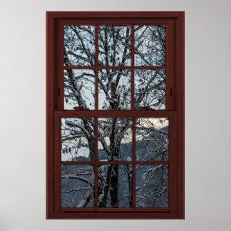 Póster Ventana falsa - ilusión - opinión 2 de maderas del