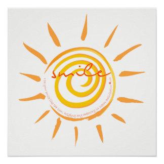 Póster Veo su sonrisa como el poema de The Sun