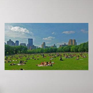 Póster Verano en el Central Park