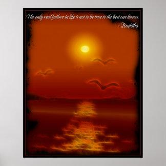 Poster verdadero de la cita de Buda