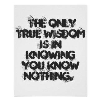 Poster verdadero de la sabiduría