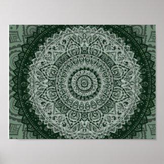 Poster verde de Oriente Medio del modelo del hippy