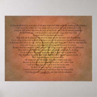Póster Verso de la biblia del salmo 91